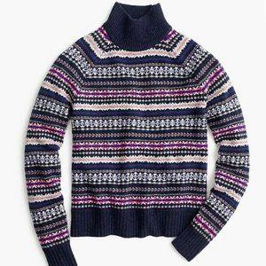 NWOT J. Crew Wool Fair Isle Sweater L